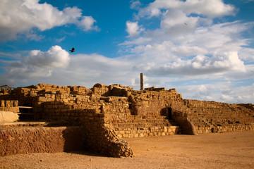 Old city in national park caesarea israel