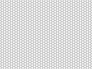Hexagon honeycomb pattern. Honey hexagonal backdrop, mosaic cells structure, geometric line grid texture vector seamless carbon, mosaic backdrop. technology carbon structure