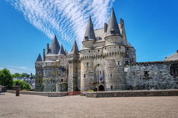 Chateau de Vitre castle in Brittany, France