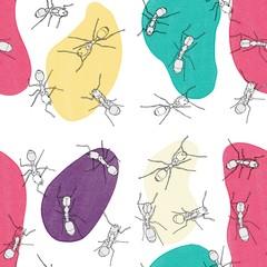 Seamless ant pattern