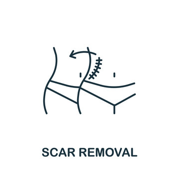 Scar Removal icon from plastic surgery collection. Simple line element Scar Removal symbol for templates, web design and infographics
