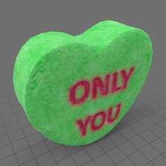 Heart candy with only you message