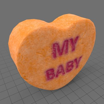 Heart candy with my baby message