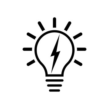 Electricity Logo, Electric bulb logo and icon
