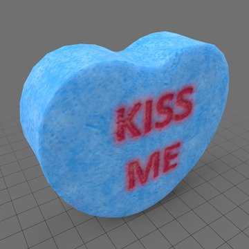 Heart candy with kiss me message
