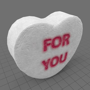 Heart candy with for you message