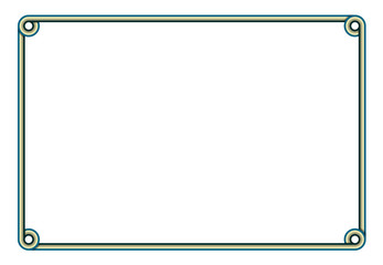 frame with copy space for text