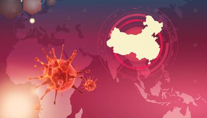 New coronavirus 2019-ncov. 3D medical illustration