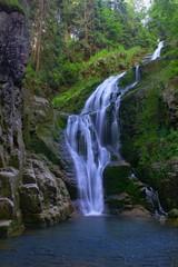 Waterfall Kamienczyka in Szklarska Poreba Poland