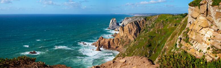 View of Atlantic Coast at Portugal, Cabo da roca. Summer day Fototapete