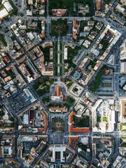 Panoramica latina dall'alto