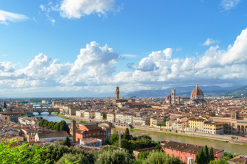 Tuinposter Florence Cityscape of Florence and Saint Mary of the Flower in Florence. Italy