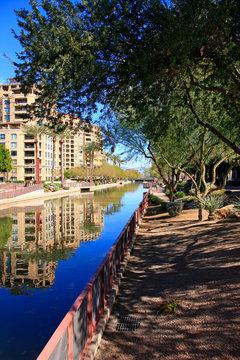 Apartments along the Arizona Canal in Scottsdale AZ