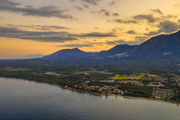 Wall Mural - Aerial view of Corsica east coast