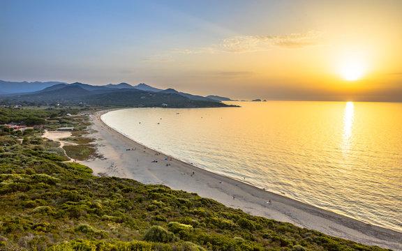 Golden sunset over Losari beach