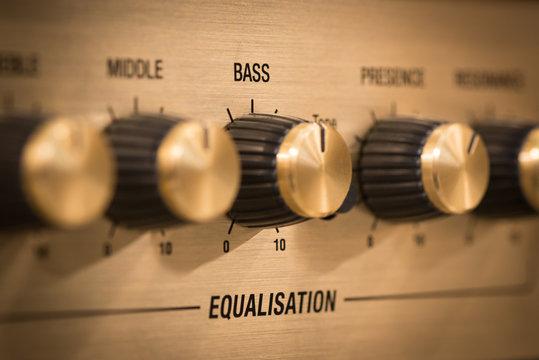 Guitar amp bass knob