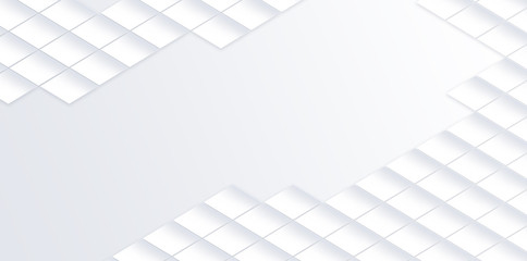 Geometric white background modern banner design texture white.