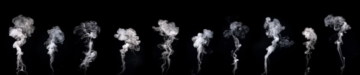 Aluminium Prints Smoke Abstract smoke on a dark background . Isolated .