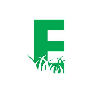 E Grass Logo, Lawn Care Logo