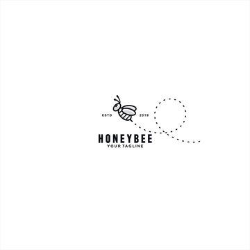 Cute Honey Bee logo design template