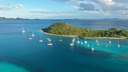 Caribbean Islands and beaches, aerial views, St. Vincent & Grenadines, Caribbean