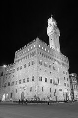 Fototapete - Palazzo Vecchio and town hall building in Florence, Tuscany, Europe