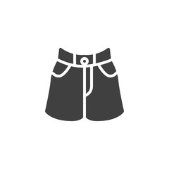 Womens shorts vector icon. filled flat sign for mobile concept and web design. Short skirt glyph icon. Symbol, logo illustration. Vector graphics