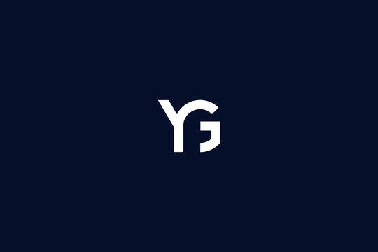 Initial based clean and minimal Logo. GY YG G Y letter creative fonts monogram icon symbol. Universal elegant luxury alphabet vector design