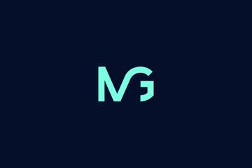 Fototapeta Initial based clean and minimal Logo. GM MG G M letter creative fonts monogram icon symbol. Universal elegant luxury alphabet vector design obraz