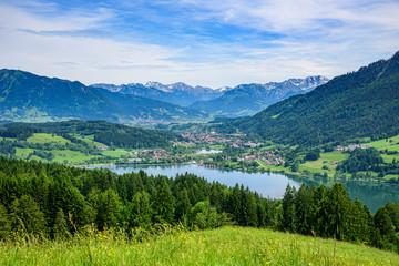 Wall Mural - Ausblick auf den Alpsee und Immenstadt im Allgäu