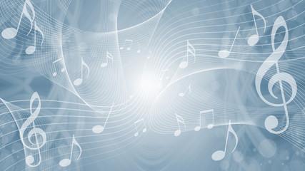 音符による音楽のイメージ背景