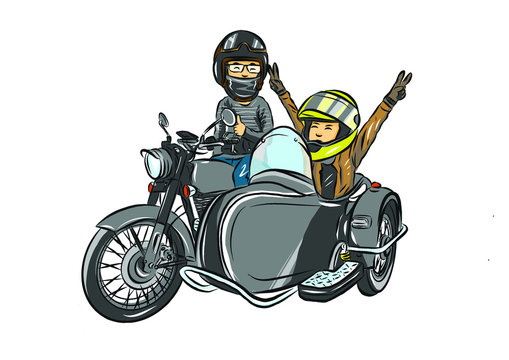 the family touring motorcycle sidecar