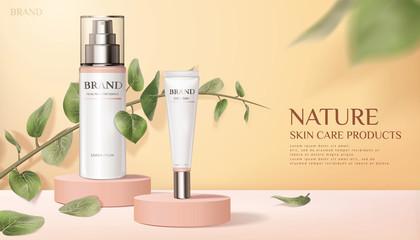Nature skincare product ads