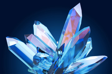 Beautiful blue clear crystal Fotobehang