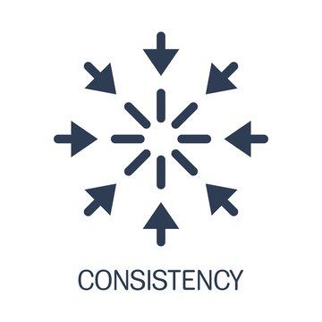 Сonsistency icon. Simple element illustration.Flat design.