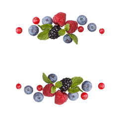 Wreath of different berries.