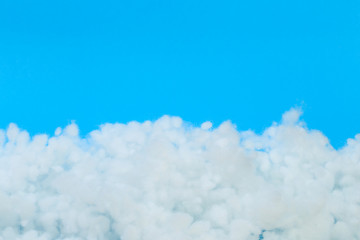 hollowfiber, polyester fiber on a light blue background - Image Fotomurales