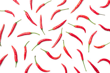 In de dag Hot chili peppers Red hot chili pepper isolated