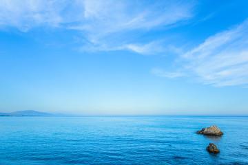 Mediterranean Sea from Punta del Salto de la Mora in Casares, Malaga, Spain