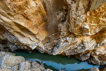 Natural Site of Desfiladero de los Gaitanes, Ardales, Malaga, Spain