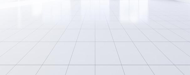 empty room and tile floor Fotobehang