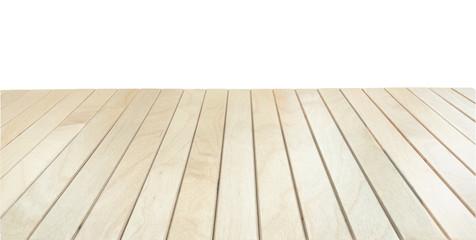 Stores à enrouleur Ponts Wooden deck, planks terrace or table on white