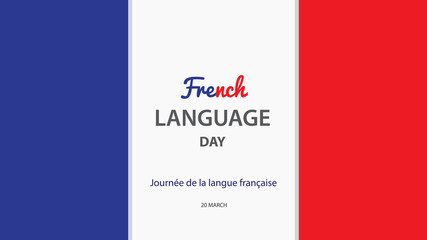 French Language Day. Vector illustration background