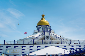 View of Eastbourne pier in East Sussex, UK