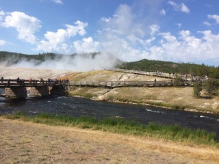 Firehole River, Midway geyser basin, Yellowstone national park