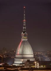 Italy, Turin, Mole Antonelliana, dusk vert