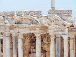 Hierapolis City Ruin in Turkey in Pamukkale.