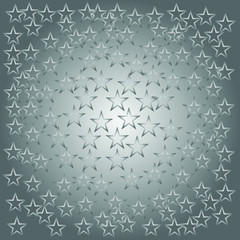 star background. background of stars in gray, vector