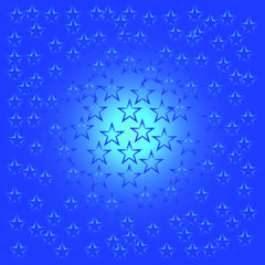 star background. background of stars isolated in blue, vector