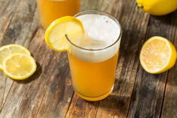 Fototapete - Refreshing Lemon Beer Shandy